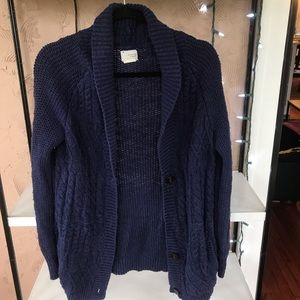 Urban Outfitters Chunky Knit Navy Cardigan